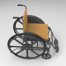Wheelchair (for Poser and Vue) image 5