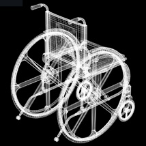 Wheelchair (for Poser and Vue) image 7