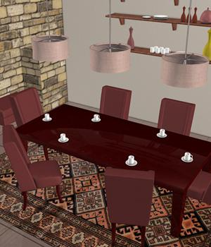 3D Assets: Dining Room Props/Scenes/Architecture Software Themed Imaginary_House