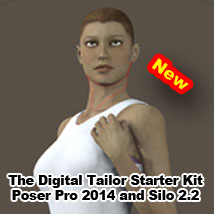 The Digital Tailor Starter Kit Poser Pro 2014 and Silo Tutorials : Learn 3D Fugazi1968