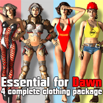 Essential For Dawn 3D Figure Assets 3D Models powerage