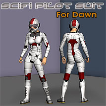 Dawn SciFi Pilot Clothing Themed Props/Scenes/Architecture Footwear Poses/Expressions Characters Simon-3D
