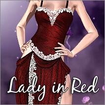 Lady In Red Dress for V4/A4/G4/S4 & Elite Themed Clothing Software RPublishing