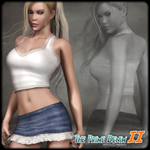 The Prime Denim II 3D Figure Assets 3D Models mytilus