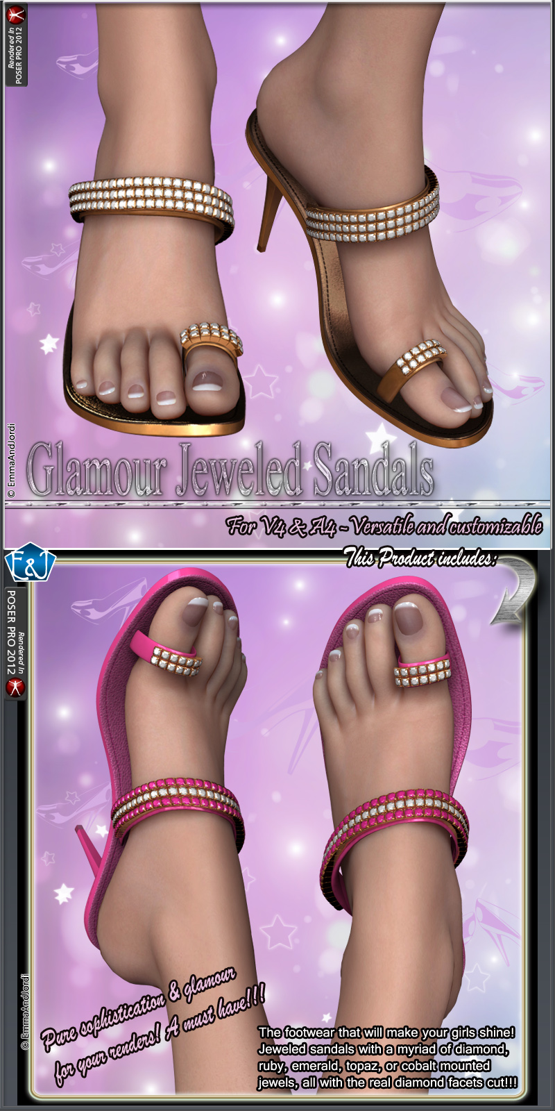 Glamour Jeweled Sandals