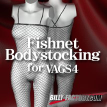 V4 Fishnet Stocking 3D Figure Assets billy-t