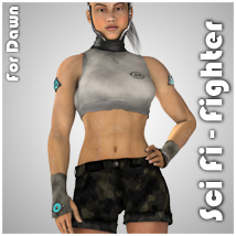 Sci Fi - Fighter for Dawn Themed Clothing Software jonnte