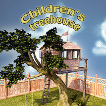 Children's treehouse Props/Scenes/Architecture Themed 1971s