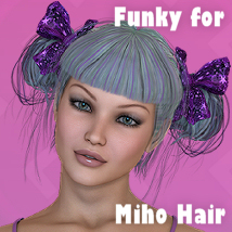 FUNKY for Miho Hair 3D Figure Essentials 3D Models Divakatt