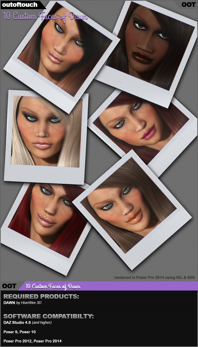 10 Custom Faces of Dawn by outoftouch