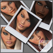 10 Custom Faces of Dawn 3D Figure Assets 3D Models outoftouch