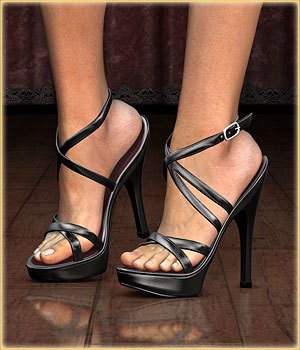 DM's High Heels for Dawn 3D Figure Essentials Danie