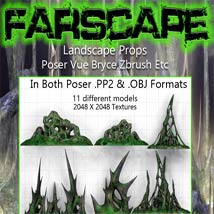 FarScape Landscape Props by Poisen