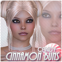 Candy Cinnamon Buns 3D Figure Essentials Sveva