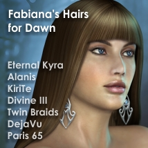 Fabi's Hairs for Dawn 3D Figure Assets fabiana