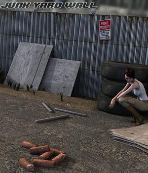 Junk Yard Wall Themed Props/Scenes/Architecture Software Imaginary_House