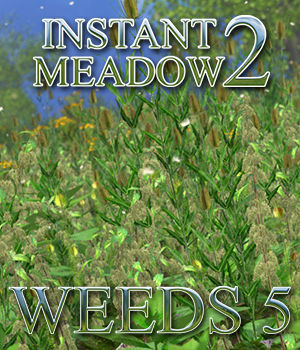 Flinks Instant Meadow 2 - Weeds 5 3D Models Flink