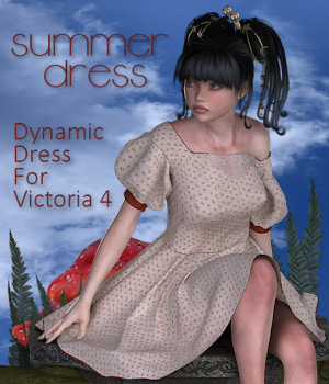 Summer Dress for V4, A4, G4,S4, K4 3D Figure Assets Tipol