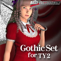 TY2 Gothic Set 3D Figure Assets billy-t