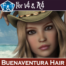 Buenaventura Hair For V4 And A4 Themed Software Hair EmmaAndJordi