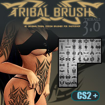 JLL 40 Tribal Brushes 3.0 for Photoshop 2D Graphics Yanelis3D