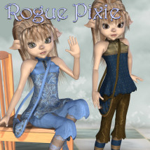 Rogue Pixie 3D Figure Essentials 3D Models JudibugDesigns
