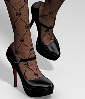 Mary Jane Shoes 3D Figure Assets idler168