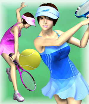 MMTennis-WearSetForTY2 3D Figure Assets mamota