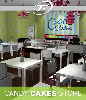 Candy Cakes Store 3D Models TruForm