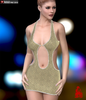 Tight Dress for V4A4G4Elite 3D Figure Essentials RainbowLight