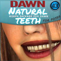 i13 NATURAL TEETH morphs for Dawn 3D Figure Assets 3D Models ironman13