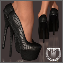 Sexy Pumps for Dawn 3D Figure Assets outoftouch