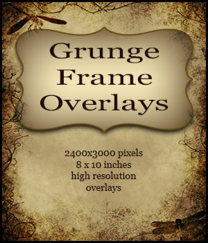 Grunge Frame Overlays Themed 2D And/Or Merchant Resources antje