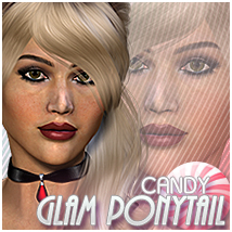 Candy Glam Ponytail Hair Themed Sveva