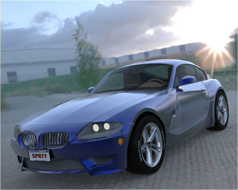 Luxury Sports Car (Poser, Vue, 3ds & obj)