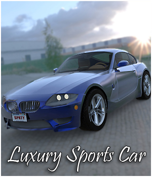 Luxury Sports Car (Poser, Vue, 3ds & obj) 3D Models RPublishing