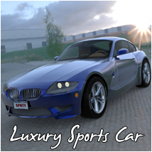 Luxury Sports Car (Poser, Vue, 3ds & obj) Transportation Software Themed RPublishing