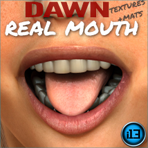 i13 REAL mouth for DAWN Characters Software Materials/Shaders Themed ironman13