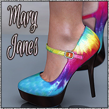 NYC Collection: Mary Janes 3D Figure Assets 3DSublimeProductions
