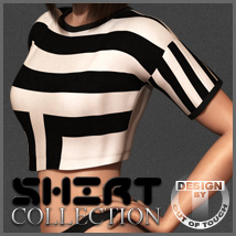 Shirt Collection: Cropped T-Shirt for Dawn 3D Figure Essentials 3D Models outoftouch