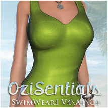 OziSentials SwimWear I V4/A4/G4 3D Figure Essentials 3D Models OziChick