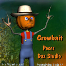 Crowbait Scarecrow Themed Stand Alone Figures Characters pappy411