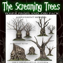 Screaming Trees 3D Models Poisen