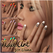 Nail Art for Dawn 2D 3D Figure Essentials Atenais