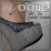 Vogue for Crazy Wedges 3D Figure Assets Sveva