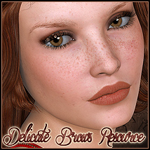 FS Delicate Brows Resource 3D Models 2D FrozenStar
