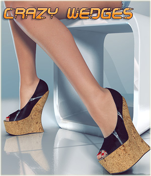 Crazy Wedges Clothing Themed Footwear lilflame