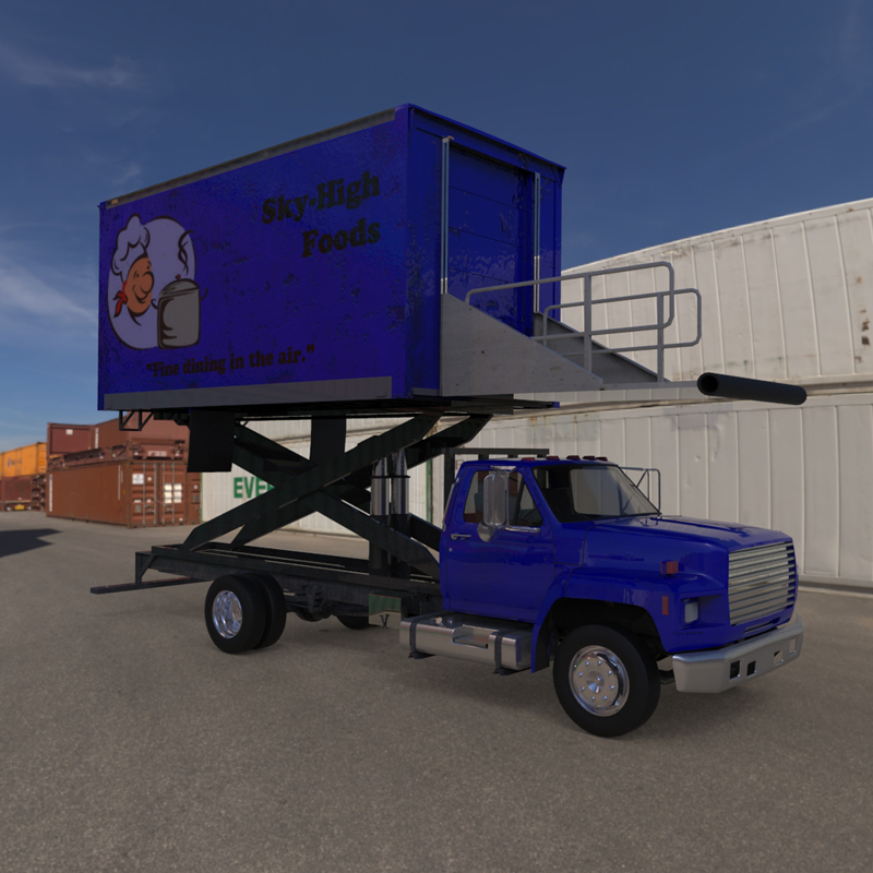 Airport Supply Truck  for Poser