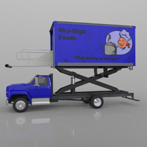 Airport Supply Truck  for Poser  image 3
