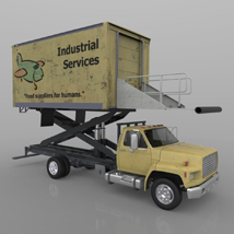 Airport Supply Truck  for Poser  image 7